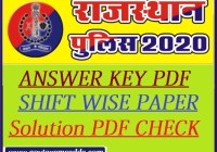 Rajasthan Police Answer Key 2020