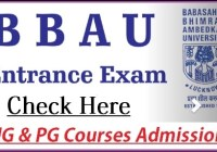 BBAU Admission Counselling Schedule 2021