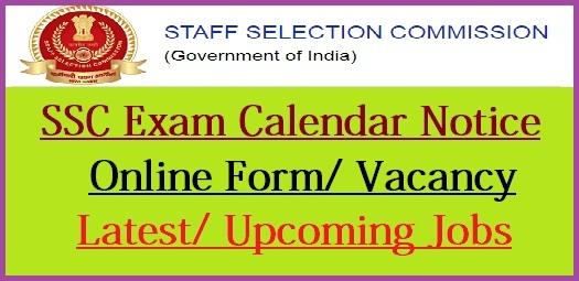 SSC Exam Calendar 2021-22