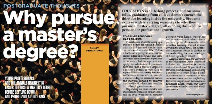 why to pursue masters degree ?