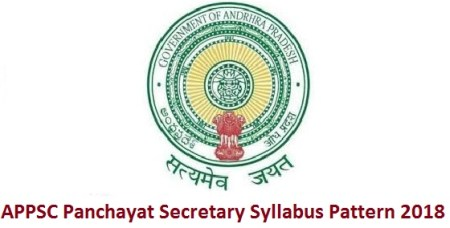 APPSC Panchayat Secretary Syllabus Pattern 2018