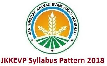 JKKEVP Syllabus Pattern 2018