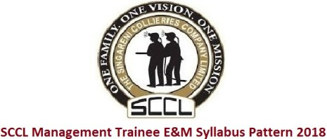 SCCL Management Trainee E&M Syllabus Pattern 2018