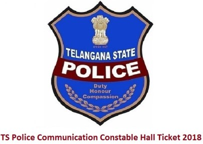 TS Police Communication Constable Hall Ticket 2018