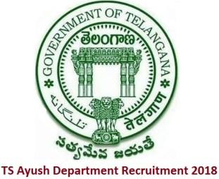TS Ayush Department Recruitment 2018