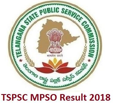 TSPSC MPSO Result 2018
