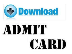 Admit Card govtjobsmedia