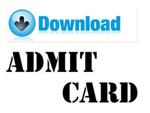 Admit Card govtjobsmedia