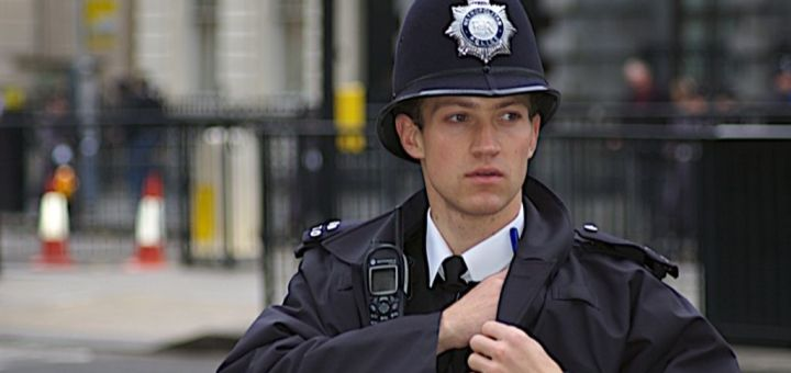 British policeman on duty