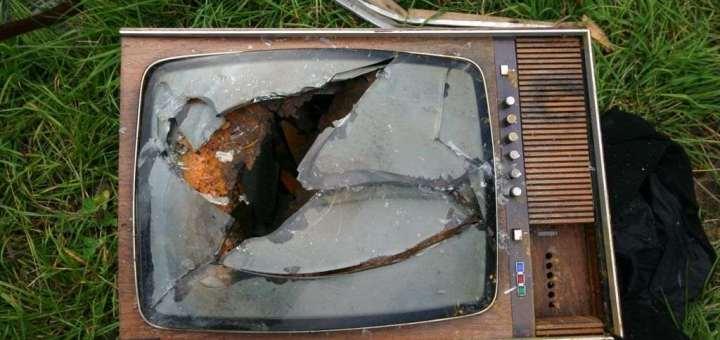 smashed tv