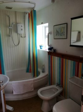 The bathroom in The Bower, Rhossili,