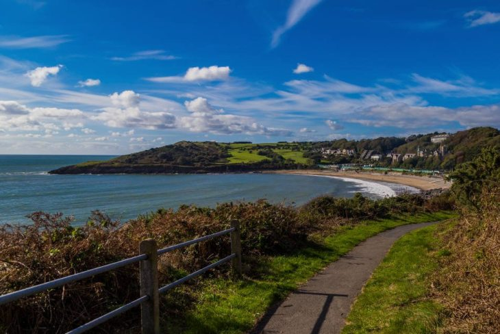 Langland and Rotherslade Bays in the Gower Peninsula, Swansea