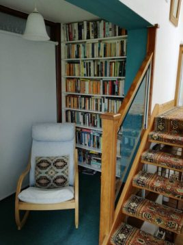 Library sitting area at The Bower, Rhossili, Gower