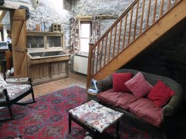 The sitting room in Delvid Stables self-catering accommodation, Llangennith, Gower