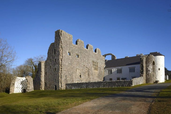 Oxwich Castle at Oxwich, Gower Peninsula