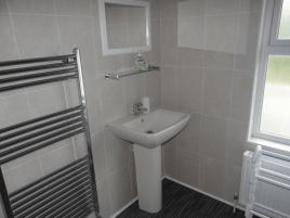 One of the bathrooms at Sunnyside, Rhossili, Gower