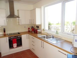 The kitchen at Sunnyside holiday cottage, Rhossili, Gower Peninsula