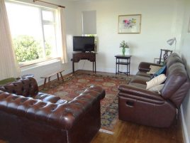 The lounge at Sunnyside self-catering house, Rhossili, Gower