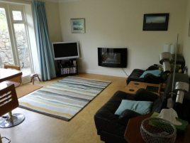 The lounge at The Bower self-catering accommodation, Gower Peninsula