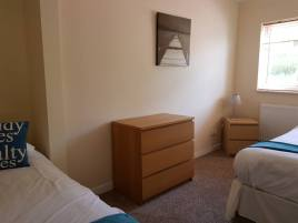 The twin bedroom at Sea Breeze Apartment 3, Horton, Gower, Swansea
