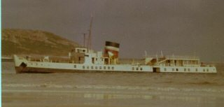 Prince Ivanhoe 6 weeks after sinking in Horton, showing clearly how close to the shore she was.