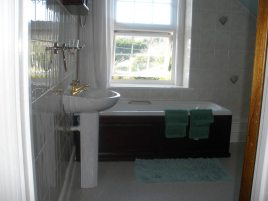 The bathroom at Hollies self-catering accommodation, Horton, Gower Peninsula