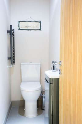 The cloakroom at Honeywell Cottage self-catering holiday cottage, Oxwich, Gower