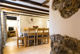 The dining room at The Bower Cottage self-catering thatched cottage, Port Eynon, Gower