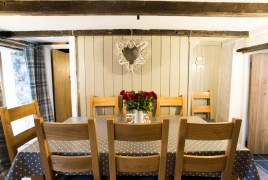 The dining room at The Bower Cottage self-catering holiday cottage, Port Eynon, Gower Peninsula