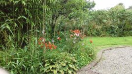 The garden at Brook Cottage self-catering cottage, Reynoldston, Gower Peninsula