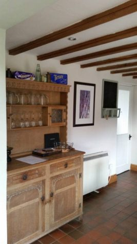 The dresser at Brook Cottage holiday accommodation, Reynoldston, Gower