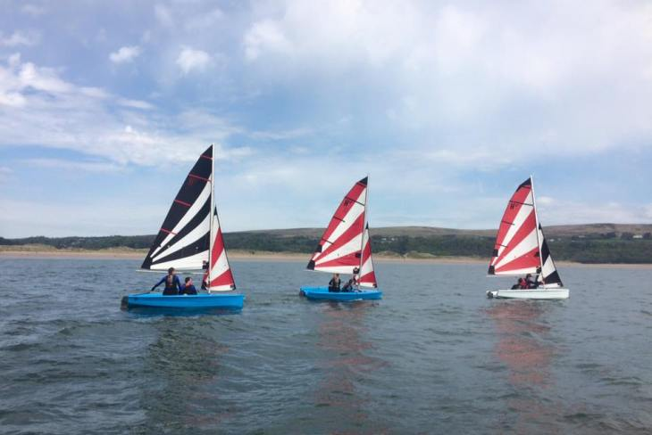 Sailing at Oxwich Watersports, Oxwich Bay, Gower