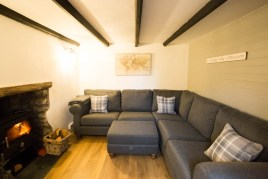 The sitting room at The Bower Cottage self-catering holiday cottage, Port Eynon, Gower