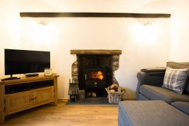 The sitting room at The Bower Cottage self-catering cottage, Port Eynon, Gower