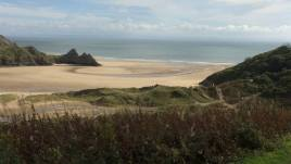 Three Cliffs Bay - a short distance from Hollies self-catering holiday cottage, Horton, Gower