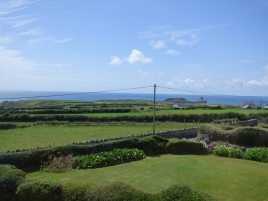 The view from the master bedroom at Faircroft, Rhossili