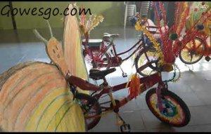 Sepeda bentuk kupu kupu