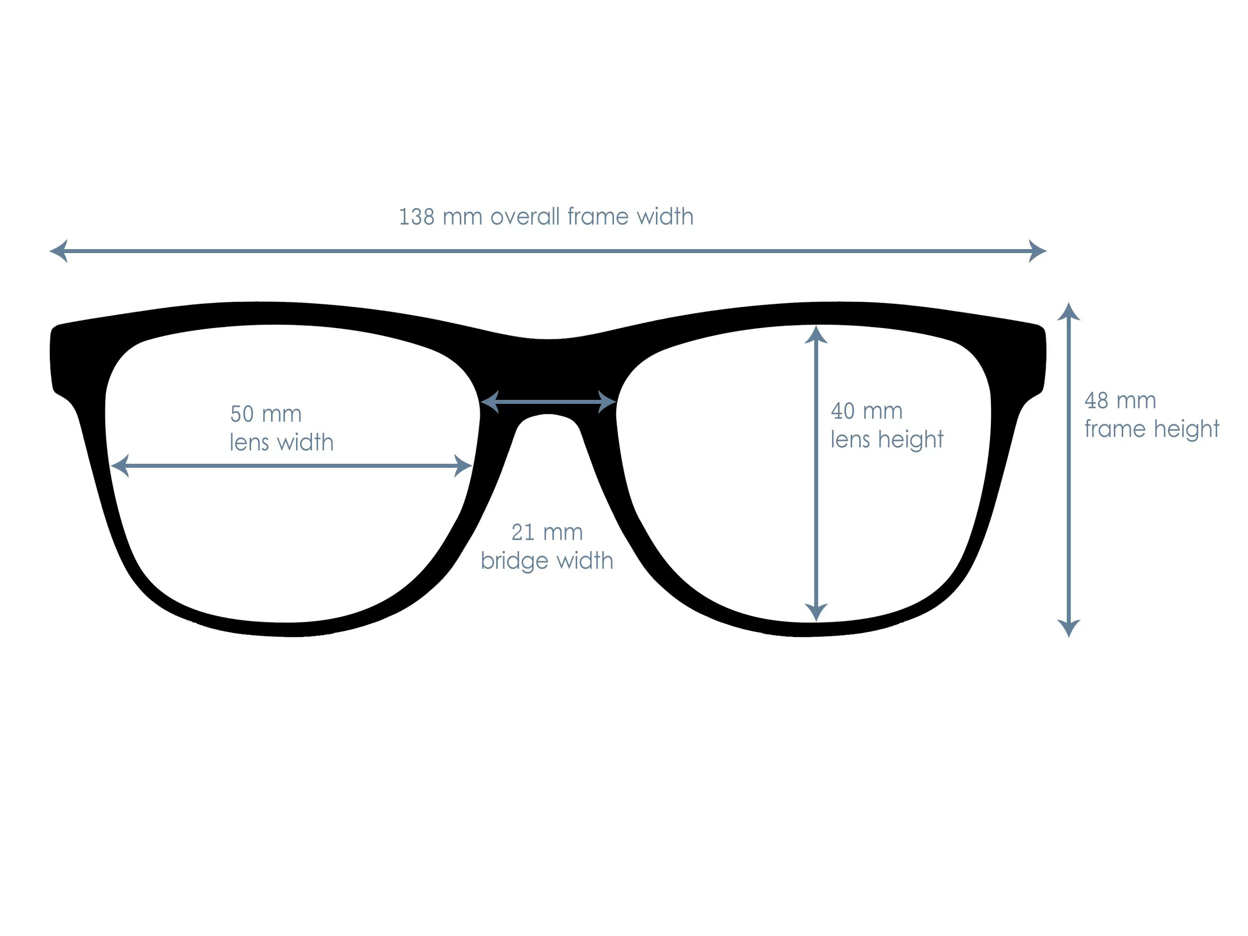 Classic Wayfarer Sunglasses With Blue Lenses