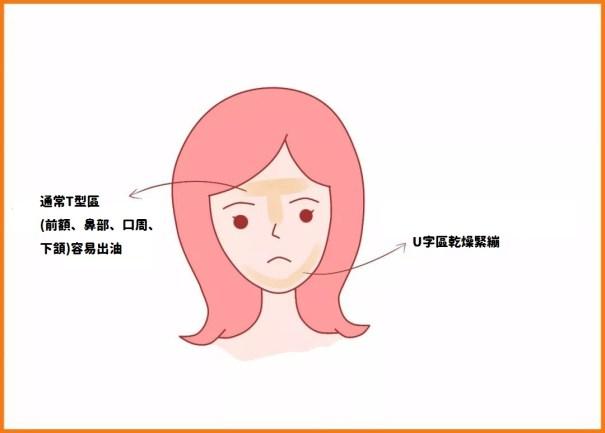 洗臉T字部位