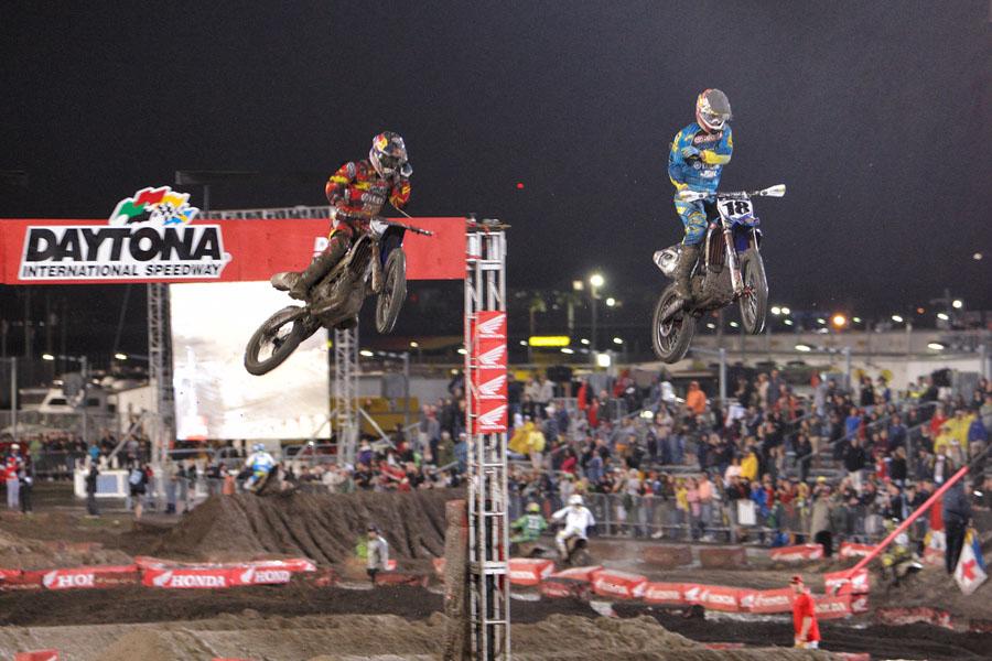 James Stuart & Davey Millsaps Supercross Daytona 2012