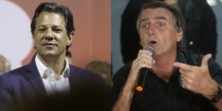 Resultado de imagem para Haddad e Bolsonaro