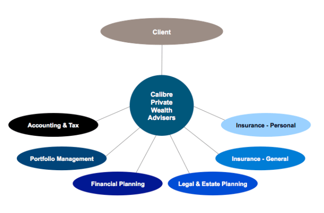 financial advice team structure at Calibre
