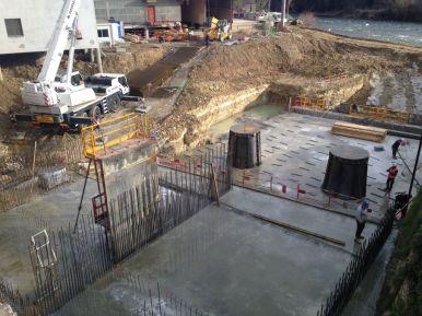 Construction des chambres d'eau