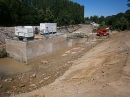 Zone de travaux à sec et terrassée