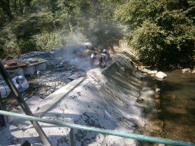 Piquage du barrage