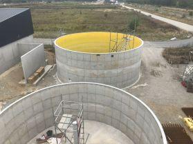 Deuxième silo terminé