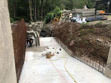 Construction de la prise d'eau