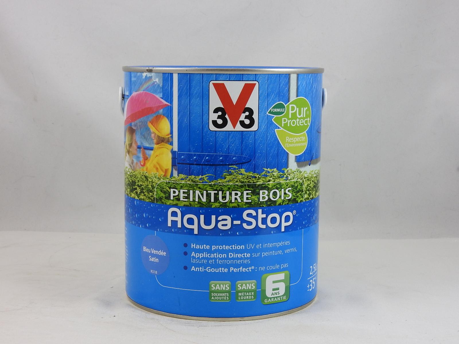 Peinture Spcial Bois Microporeuse Aqua Stop V33 25L V33