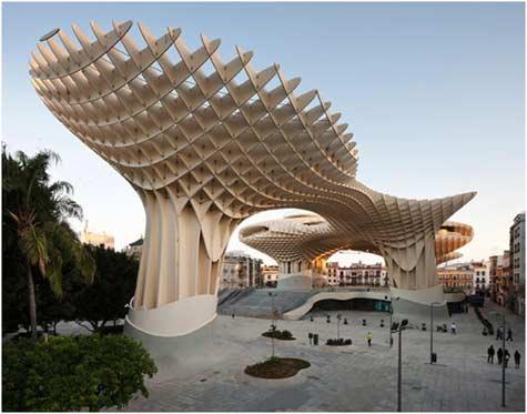 Metropol Parasol Wood Structure Exterior View