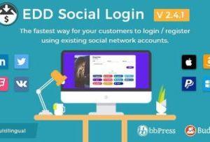 Easy Digital Downloads Social Login 2.4.1